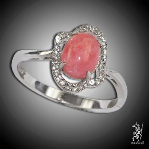 RHODOCHROSIT TOPAS Design Echtsilber Ring Serie 2
