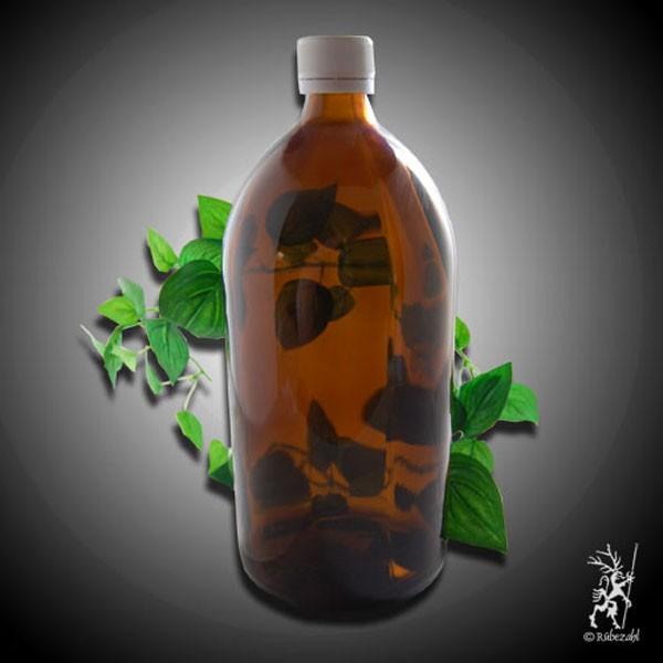 Braunglasflasche für Edelsteinwasser
