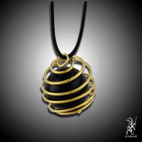 Trommelsteinspirale vergoldet