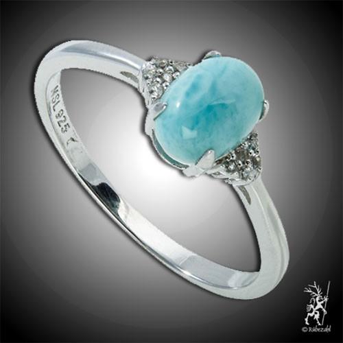 LARIMAR TOPAS Design Echtsilber Ring Serie 5