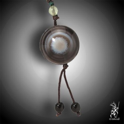 SHIVA AUGE ACHAT Amulett glatt inkl. Band