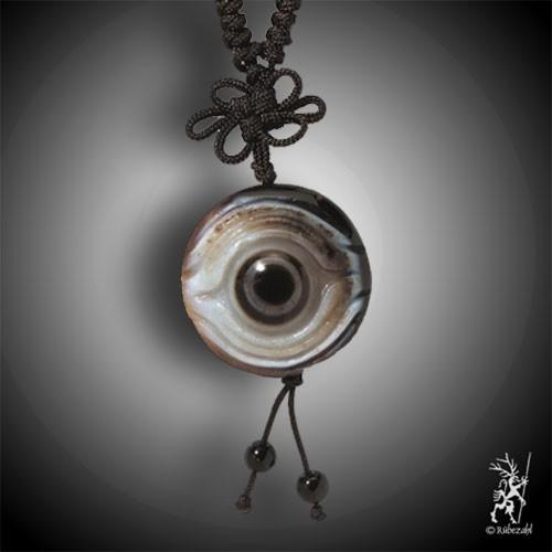 SHIVA AUGE ACHAT Amulett graviert inkl. Band