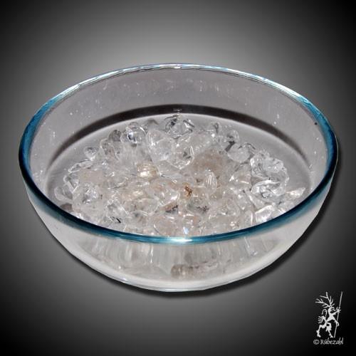 BERGKRISTALL Ladeschale aus Glas