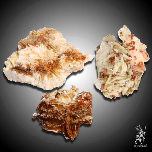 BARYT mit Vanadinit Naturkristalle