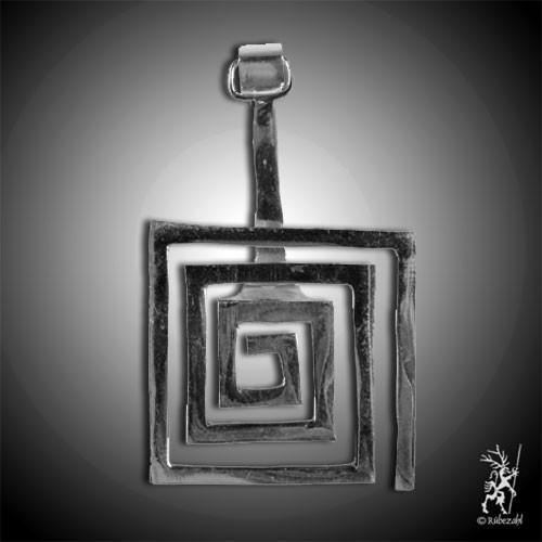 SPIRALE quadratisch 40 Messing versilbert Donuthalter