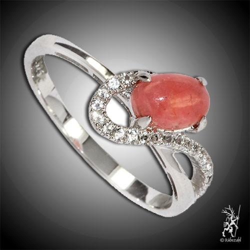 RHODOCHROSIT TOPAS Design Echtsilber Ring Serie 5