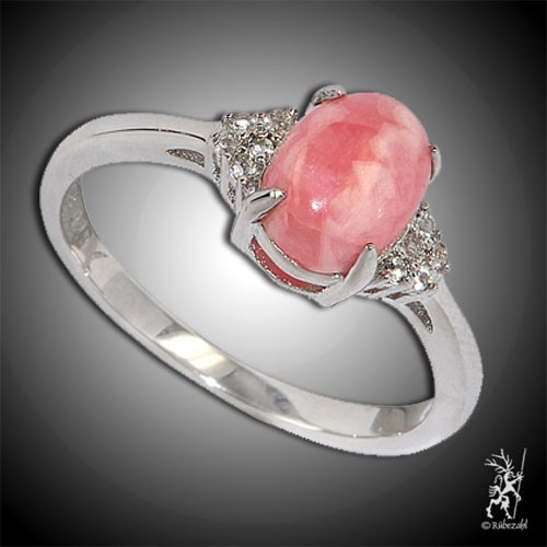 RHODOCHROSIT TOPAS Design Echtsilber Ring Serie 4