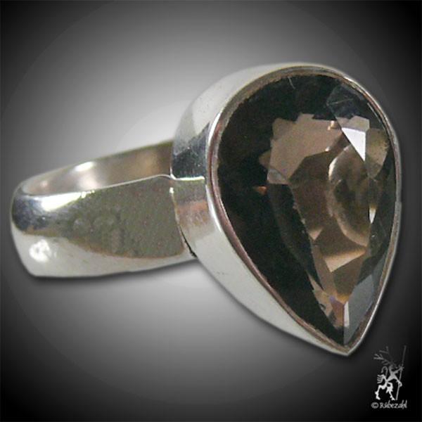 RAUCHQUARZ facettiert Silber Ring Vario