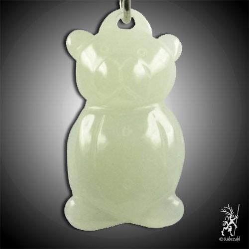 EDELSERPENTIN (China Jade) Teddy Schlüsselanhänger
