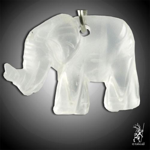 BERGKRISTALL Elefant Schlüsselanhänger