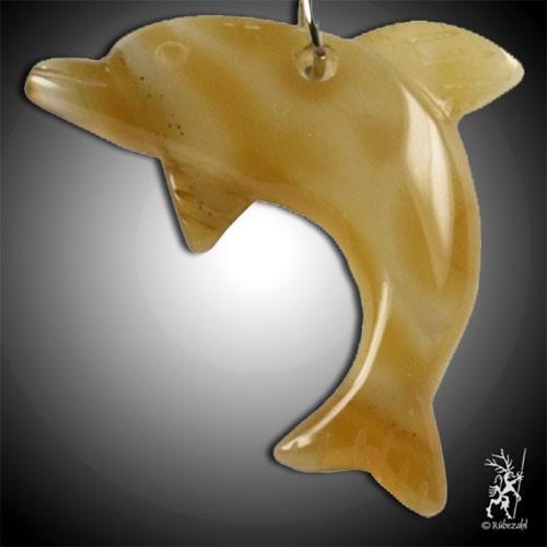 KARNEOL Delfin Schlüsselanhänger