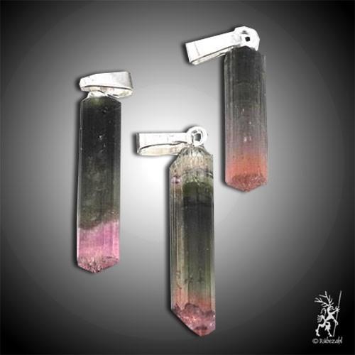 ELBAIT TURMALIN Kristalle mit Schmuckanhänger