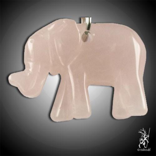 ROSENQUARZ Elefant Schlüsselanhänger