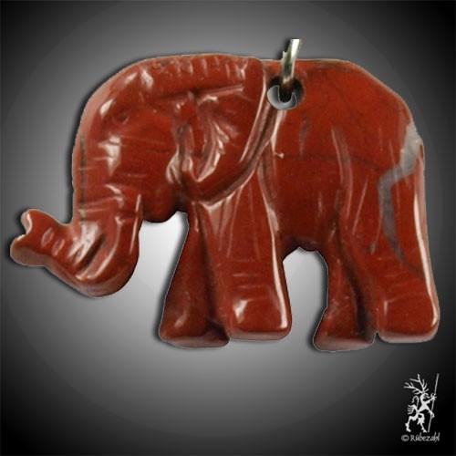 JASPIS rot Elefant Schlüsselanhänger