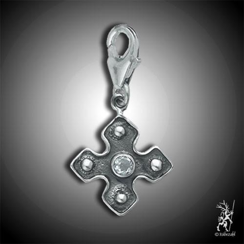 Charm Kreuz mit TOPAS
