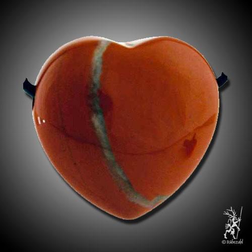 JASPIS (rot) Herzanhänger ca. 3 cm geb