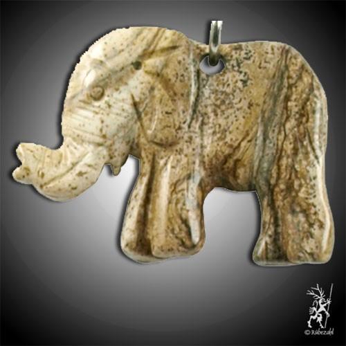 LANDSCHAFTSSTEIN Elefant Schlüsselanhänger