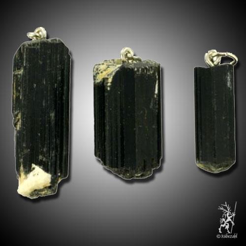 TURMALIN Kristall schwarz Anh.geol.