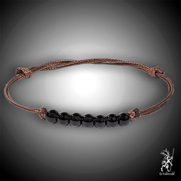 SCHUNGIT Sieben Perlen Armband