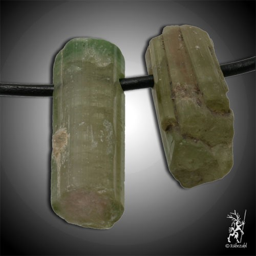 WASSERMELONEN TURMALIN Kristall gebohrt Anh. geol.