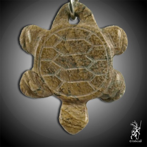 LANDSCHAFTSSTEIN Schildkröte Schlüsselanhänger