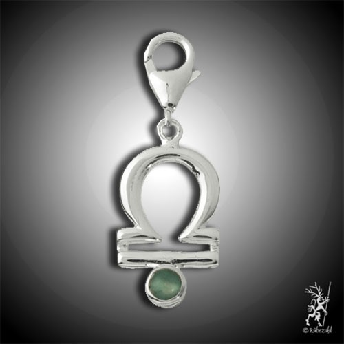 Charm Waage EDELSERPENTIN (China Jade)