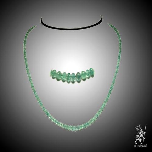 Smaragd Kugelkette 40 cm