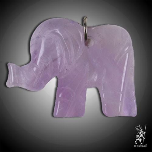 AMETHYST Elefant Schlüsselanhänger