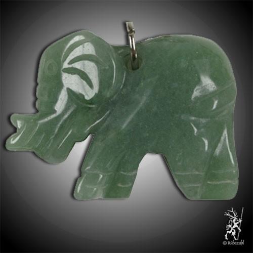 AVENTURIN grün Elefant Schlüsselanhänger