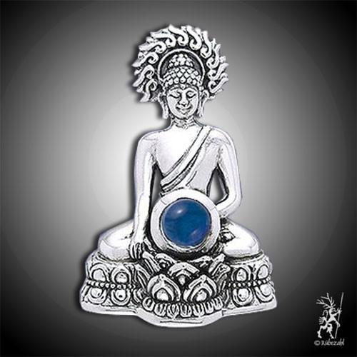 Buddha mit SAFIR Echtsilber Anhänger