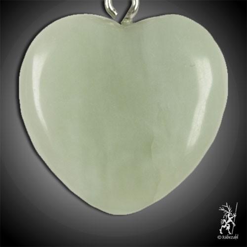EDELSERPENTIN (China Jade) Herz Schlüsselanhänger