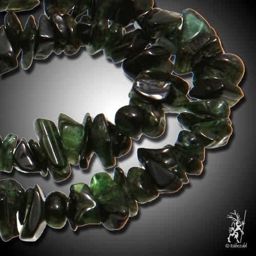 TURMALIN dunkelgrün Splitterkette 40 cm