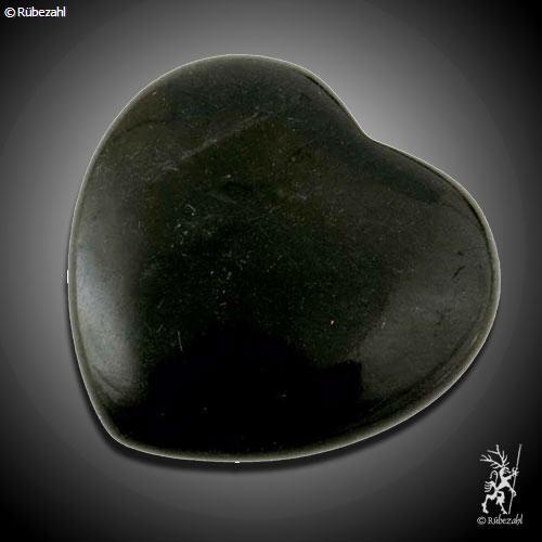 ONYX (schwarz) Herz Handschmeichler 45 mm