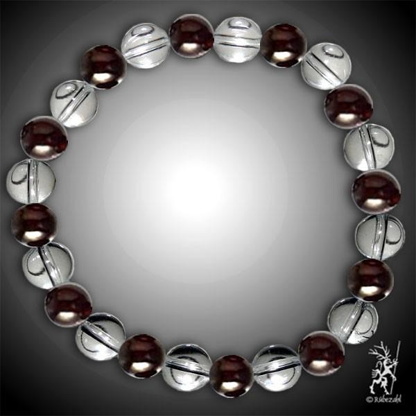 SINNLICHE LUST Bodyresonanz Armband © (Granat, Bergkristall)