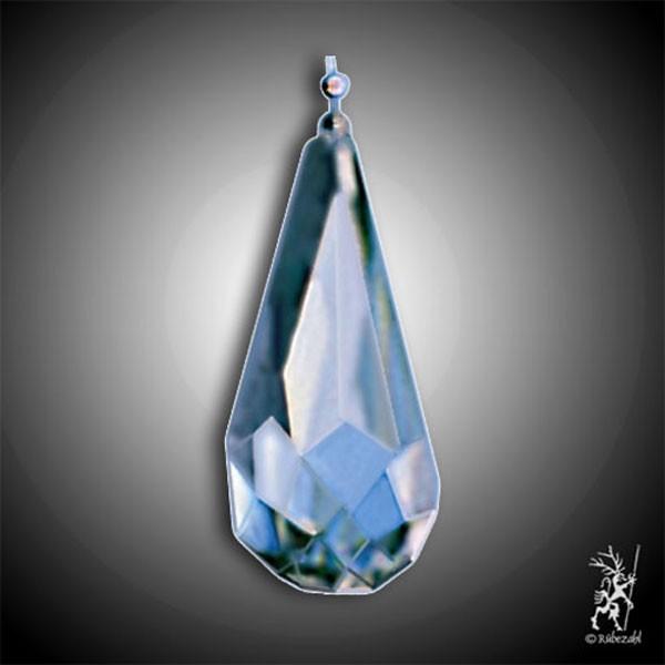 BERGKRISTALL Lichtkristall TROPFEN M (4 cm) facettiert