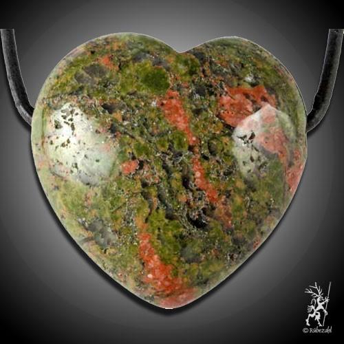 UNAKIT (Epidot) Herzanhänger ca. 3 cm geb