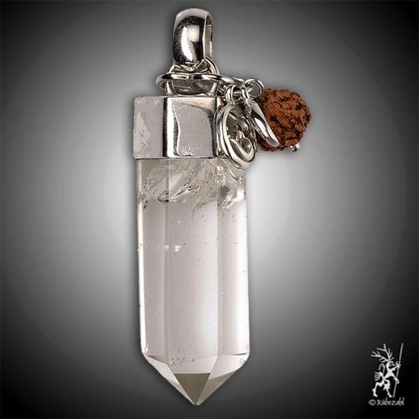 KLARHEIT SPIRIT MALA Bergkristall Echtsilber Anhänger