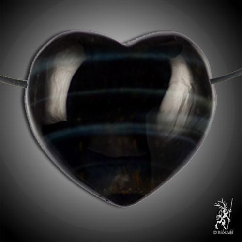 FALKENAUGE Herzanhänger ca. 3,5 cm geb