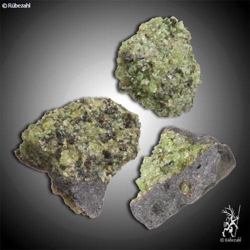 PERIDOT auf Gestein geologisch