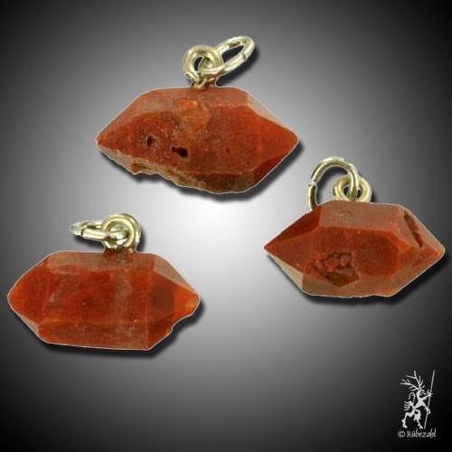 BERGKRISTALL rot (Eisenkiesel) Anh.geol.