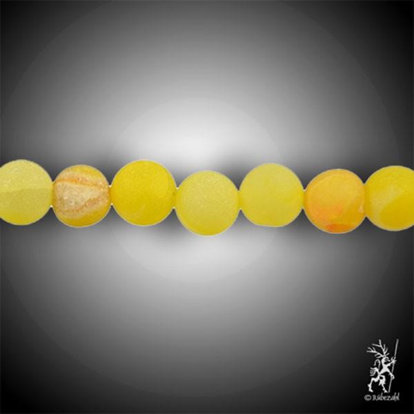 ACHAT Schlangenachat gelb/orange 10 mm matt Kugel Strang 40 cm