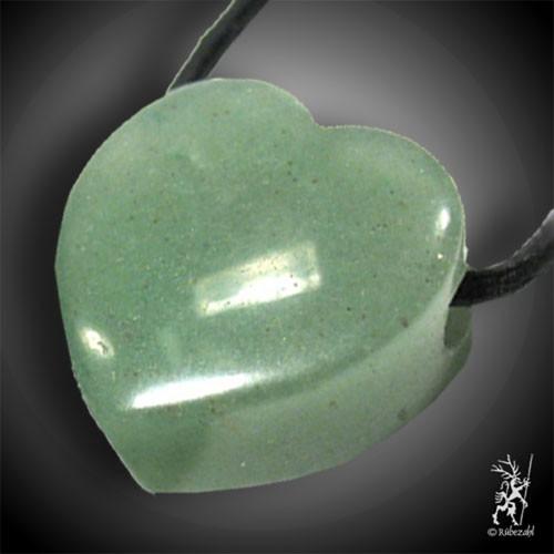 AVENTURIN QUARZ (grün) Herzanh. ca. 2 cm geb
