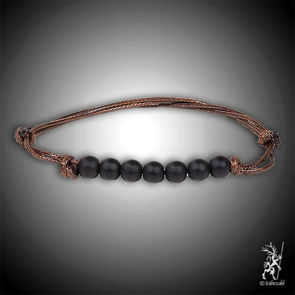 TURMALIN schwarz Sieben Perlen Armband