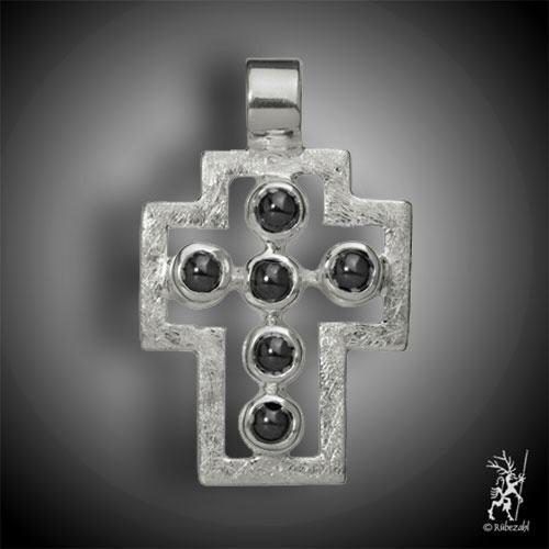 Passions-Kreuz Anhänger HÄMATIT