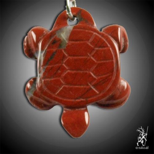 JASPIS rot Schildkröte Schlüsselanhänger
