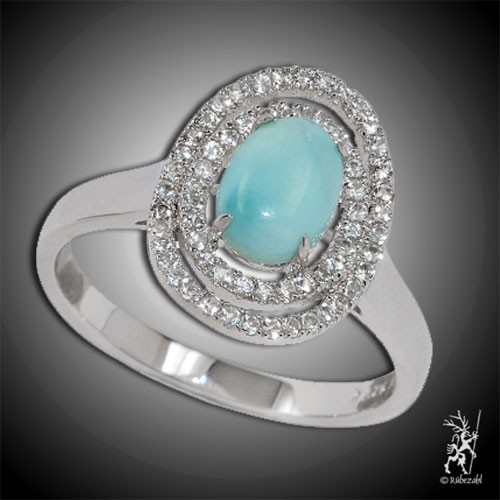 LARIMAR TOPAS Design Echtsilber Ring Serie 1