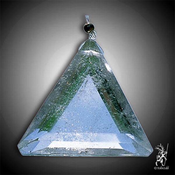 BERGKRISTALL Lichtkristall TRIANGEL facettiert