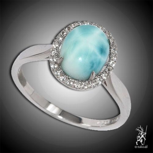 LARIMAR TOPAS Design Echtsilber Ring Serie 3