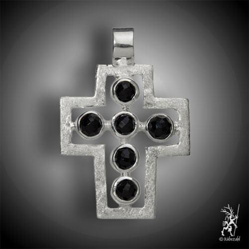 Passions-Kreuz Anhänger ONYX