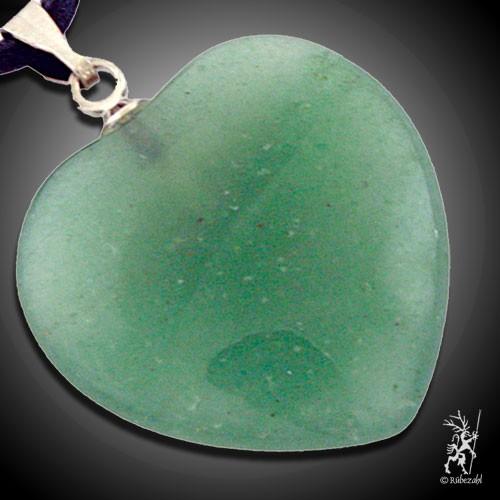AVENTURIN QUARZ grün Herzanhänger ca. 2 cm